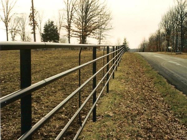 Pipe fence w bar y company fencing